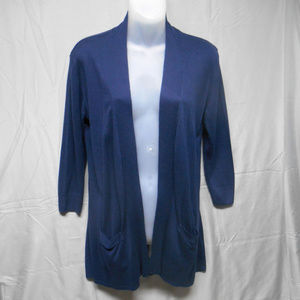 The Limited blue open front cardigan sweater XS